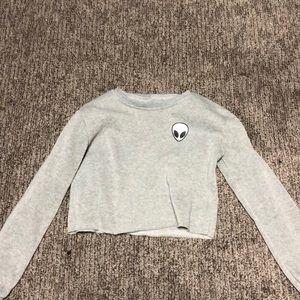Sweaters - Alien cropped sweatshirt